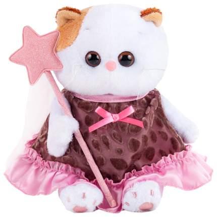 Мягкая игрушка BUDI BASA Ли-Ли BABY в коричневом платье с отделкой, 20 см