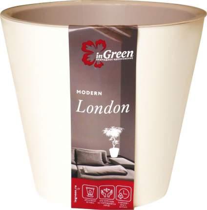 Горшок для цветов INGREEN London 16х14,5 см, 1,6 л сливочный