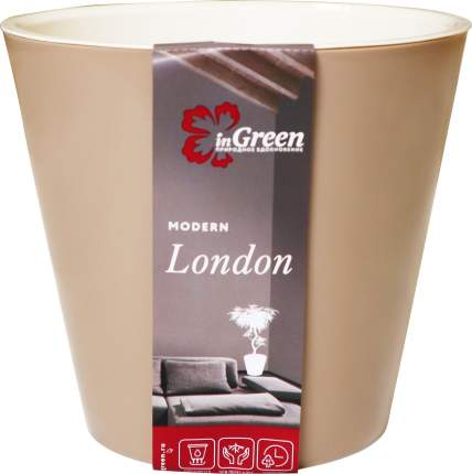 Горшок для цветов INGREEN London 16х4,5см, 1,6 л цвета молочный шоколад
