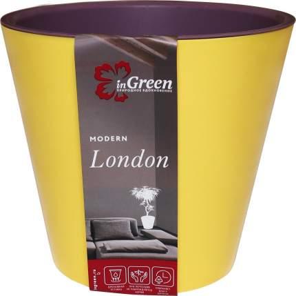 Горшок для цветов INGREEN London 16х14,5 см, 1,6 л спелая груша и морозная слива