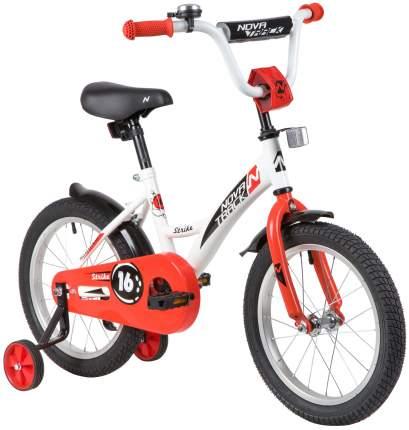 """Велосипед Novatrack Strike белый-красный 16"""""""