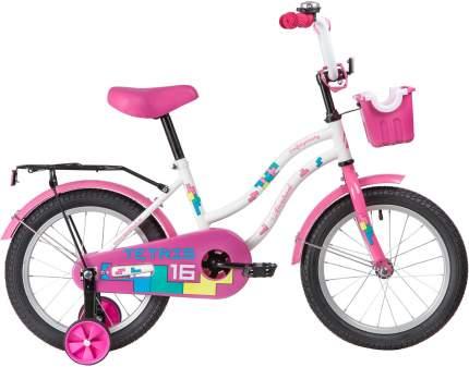 """Велосипед Novatrack Tetris белый 16"""""""
