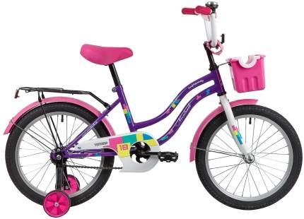"""Велосипед Novatrack Tetris фиолетовый 18"""""""