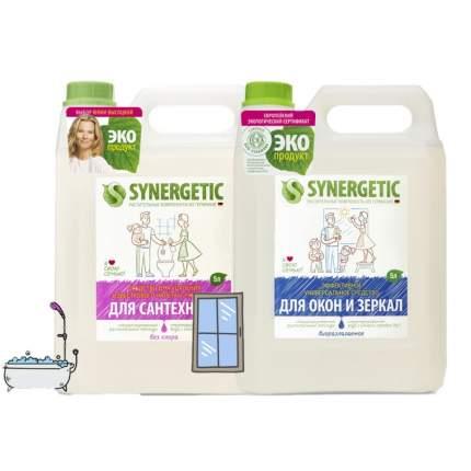 Набор Synergetic Mix для мытья окон, для чистки сантехники 2 шт 5 л