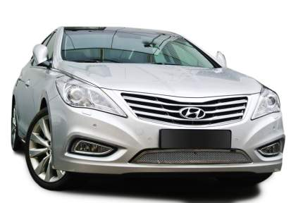 Накладка решетки бампера Fancycar Hyundai Grandeur, нижняя, сетка 1,5 мм, нерж. сталь