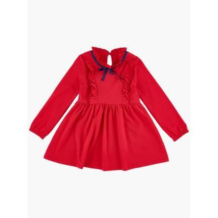 Платье для дошкольниц Мини Макси 2592 красное р.104