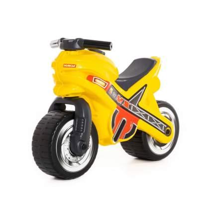 Каталка-мотоцикл Полесье МХ, цвет жёлтый