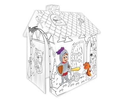 Игровой картонный домик-раскраска Mochtoys Рыцарь