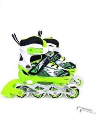 Ролики раздвижные Next зеленые, колеса PU, размер 31-34
