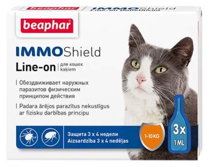 Капли для кошек против блох, вшей, клещей, комаров Beaphar IMMO Shield, 3 пипетки, 1 мл