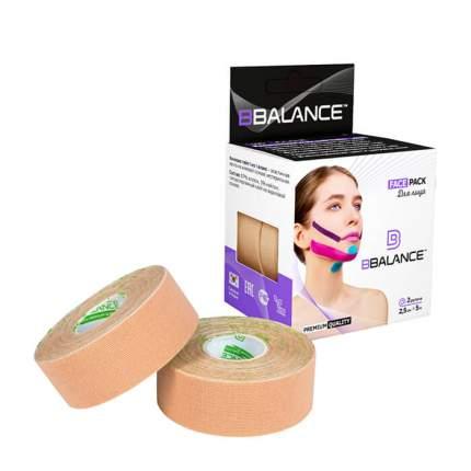 Кинезиотейп BBTape Face Pack Beige 2,5 см x 5 м, 2 рулона