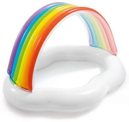 Бассейн надувной детский Intex Rainbow Cloud Baby Pool 142x119x84 см