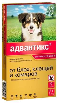 Капли для собак против паразитов Bayer Адвантикс 250, 10-25 кг, 1 пипетка, 2,5 мл
