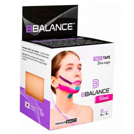 Кинезиотейп BBTape Face Pack шелковый Beige 5 см x 5 м