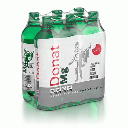 Лечебная минеральная вода Donat Mg 1 л 6 шт