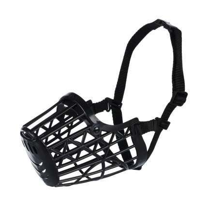Намордник для собак TRIXIE Plastic XL, пластик, черный, обхват морды 31 см