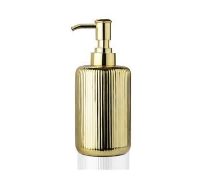 Andrea House Диспенсер для жидкого мыла Gold Ceramic, золотой BA68094