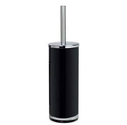 Andrea House Ершик для туалета Black Glass and Chrome, 10х38.5 см BA13135