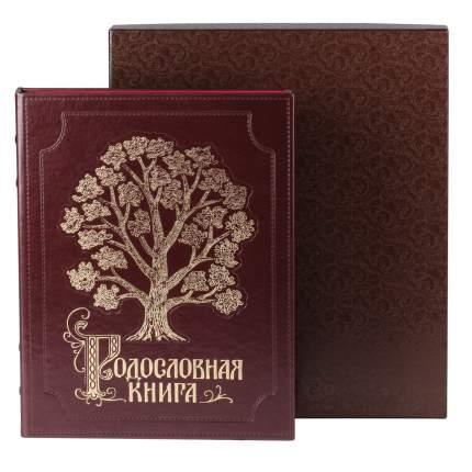 Родословная книга Изысканная (ЭКО кожа) в подарочном  футляре пейсли