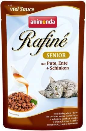 Влажный корм для кошек Animonda Rafine Senior, индейка, утка, ветчина, 12шт по 100г