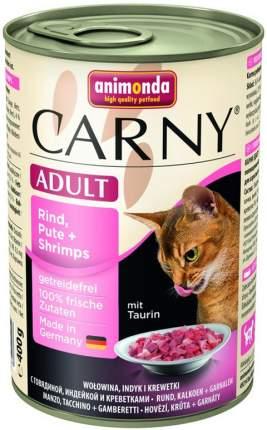Консервы для кошек Animonda Carny Adult, говядина, индейка и креветки, 6шт по 400г