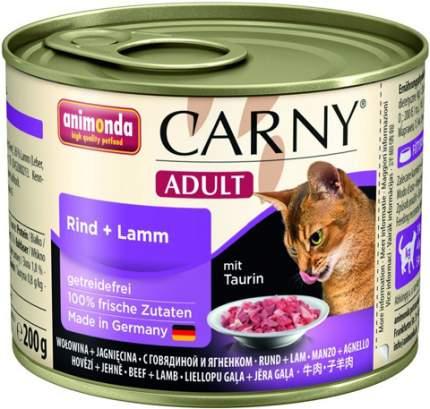 Консервы для кошек Animonda Carny Adult, говядина и ягненок, 6шт по 200г
