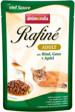 Влажный корм для кошек Animonda Rafine Adult, говядина, мясо гуся и яблоки, 12шт по 100г
