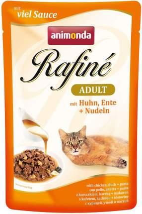 Влажный корм для кошек Animonda Rafine Adult, курица, утка и паста, 12шт по 100г