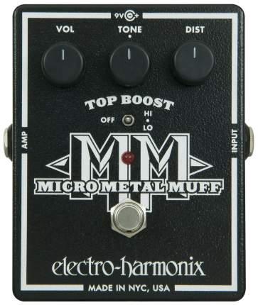 Педаль эффектов Electro-Harmonix Micro Metal Muff Metal Distortion гитарная