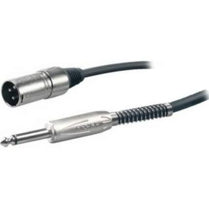 Микрофонный кабель Proel BULK220LU5 6.3мм Jack <->XLR папа, 5м