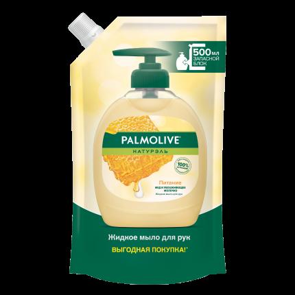 Жидкое мыло Palmolive Натурэль Питание молоко и мёд 500 мл в мягкой упаковке