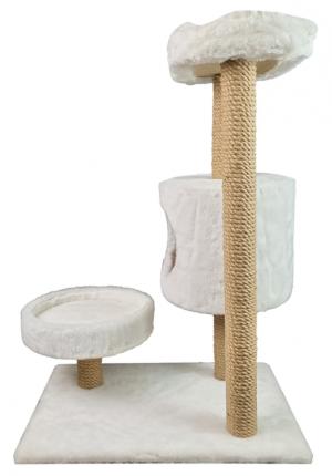 Комплекс для кошек Syndicate, белый, 4 уровня, 65х43х86см