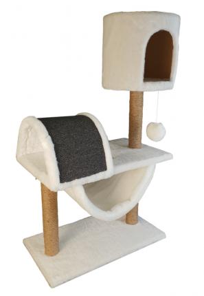 Комплекс для кошек Syndicate, белый, 4 уровня, 60х35х103см