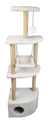Комплекс для кошек Syndicate, белый, 6 уровня, 49х36х170см