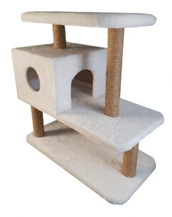 Комплекс для кошек Syndicate, белый, 4 уровня, 70*36*66см