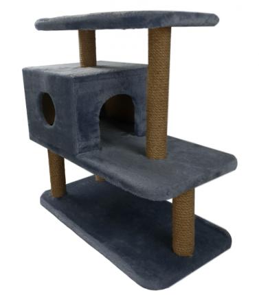 Комплекс для кошек Syndicate, серый, 4 уровня, 70*36*66см