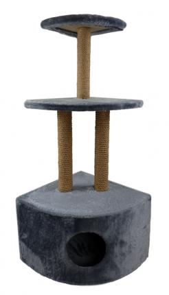 Комплекс для кошек Syndicate, серый, 4 уровня, 35*35*110см