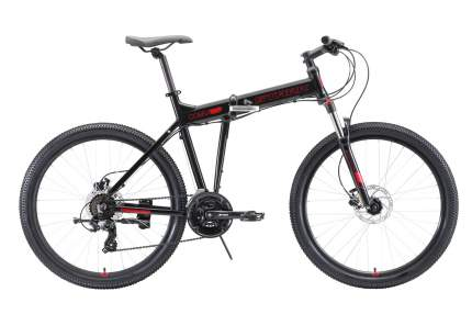 "STARK Велосипед Stark Cobra 26.2 HD (2020) чёрный/красный 18"""