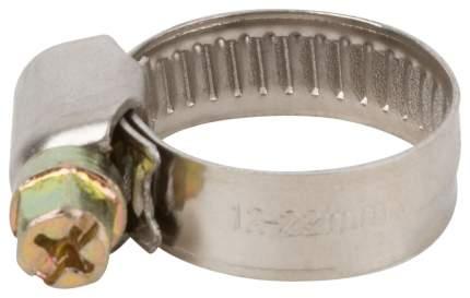 Хомут обжимной (нержавеющая сталь со сваркой) 12-22 мм FIT 64274