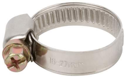 Хомут обжимной (нержавеющая сталь со сваркой) 16-27 мм FIT 64276