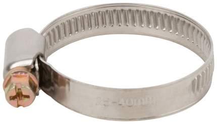 Хомут обжимной (нержавеющая сталь со сваркой) 25-40 мм FIT 64280