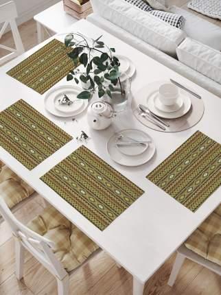 Салфетки для сервировки стола «Горизонтальные зигзаги с узорами» (32х46 см, 4 шт.)