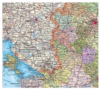 Настенная карта Атлас Принт политико-административная 1:5,5млн., 1,57х1,05м.