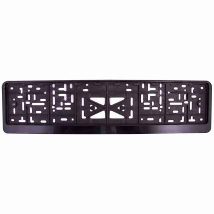 Рамка под номер SKYWAY пластмассовая с защёлкой (без надписи) полированная, черная