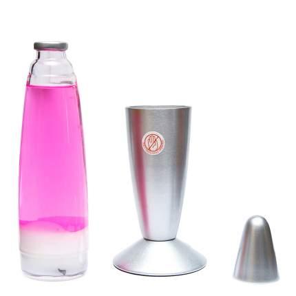 Лава-лампа, 41 см, Белая/Розовая