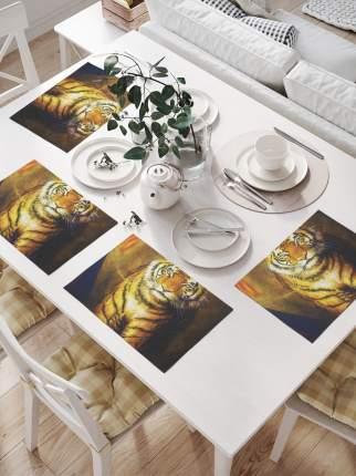 Комплект салфеток для сервировки стола «Покорный тигр» (32х46 см, 4 шт.)