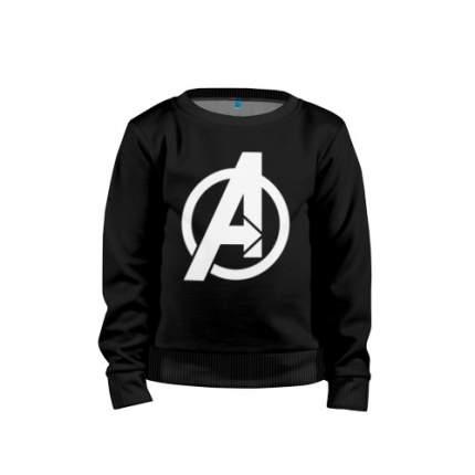 Детский свитшот хлопок Avengers logo white  размер 104