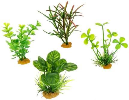 Набор искусственных растений для аквариума Prime PR-YS-70533, пластик, 4шт