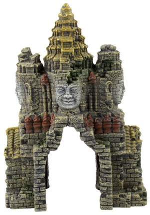 Декорация для аквариума Prime Затерянный храм, пластик, 9.5х17.5х24 см