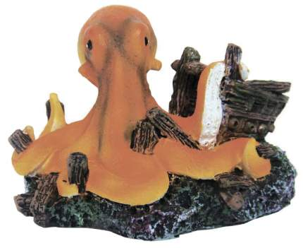 Декорация для аквариума Prime Осьминог, пластик, 6.5х9х5.5 см